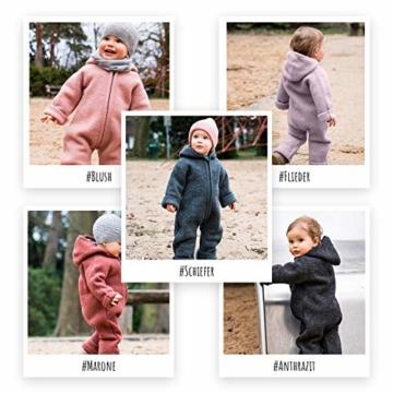 Halfen Wollwalk Overall Baby aus Bio Natur Schurwolle, Farbe: Delfin, Grösse 62 68, Baby Overall Wolle, Baby Wollwalk Anzug, Overall Baby Wolle, Walk Anzug - 5